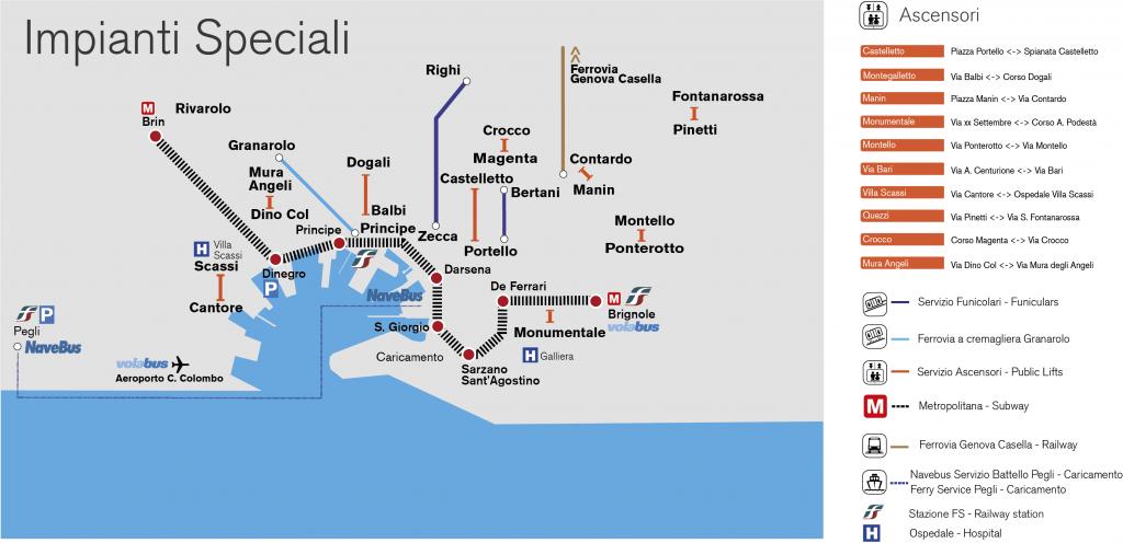 mappa impianti speciali genova
